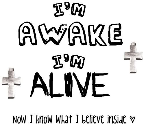 I'm awake. I'm alive. Now I know what I believe inside. Now, it's my time. I'll do what I want, cause this is my life! - Skillet - Awake