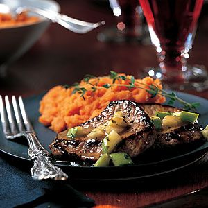 20 Romantic Dinners for Two | Veal Medallions with Apple-Thyme Sauce | CookingLight.com