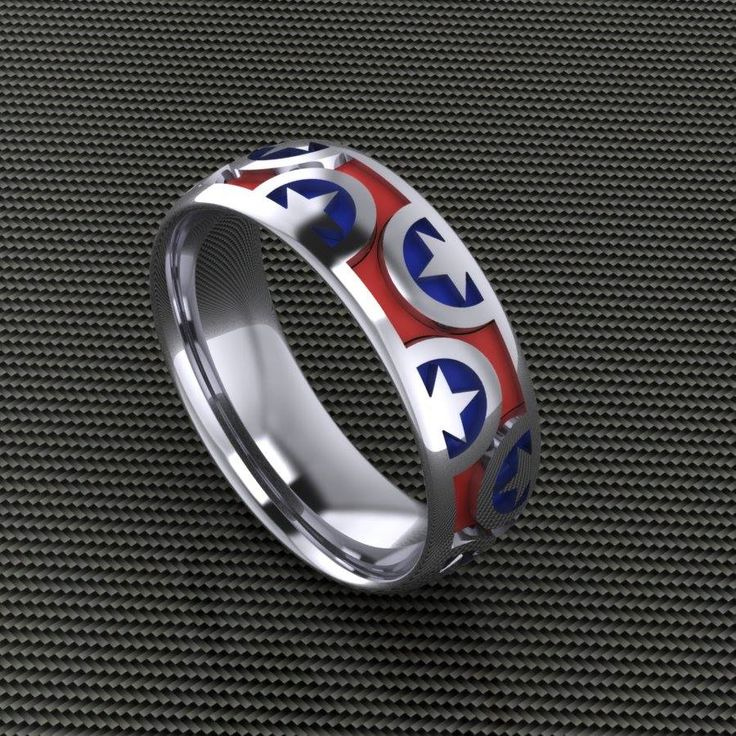 Captain America Wedding Band
