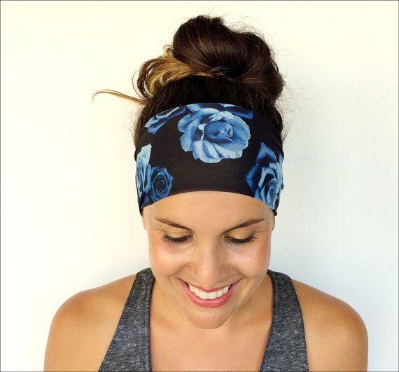 Yoga Headband  Workout Headband  Fitness by TrueNorthCollection