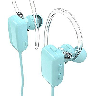 GLCON GS-06 Mini Blue Sports Sweatproof Wireless Stereo Bluetooth 4.0 Headset BT Headphones Earphone Earpiece Earbuds with Microphone Mic, A2DP, Noise Cancellation, Music Streaming and Control, Great for Sports, GYM, Running, Exercises, for Apple iPhone 5/5s/5c, iPhone 4/4s, iPad 1/2/3, new iPad, iPod and Samsung Galaxy S2, S3, S4, S5, Galaxy note 3, 2, 1 and other Android Cell Phone (Retail Package)