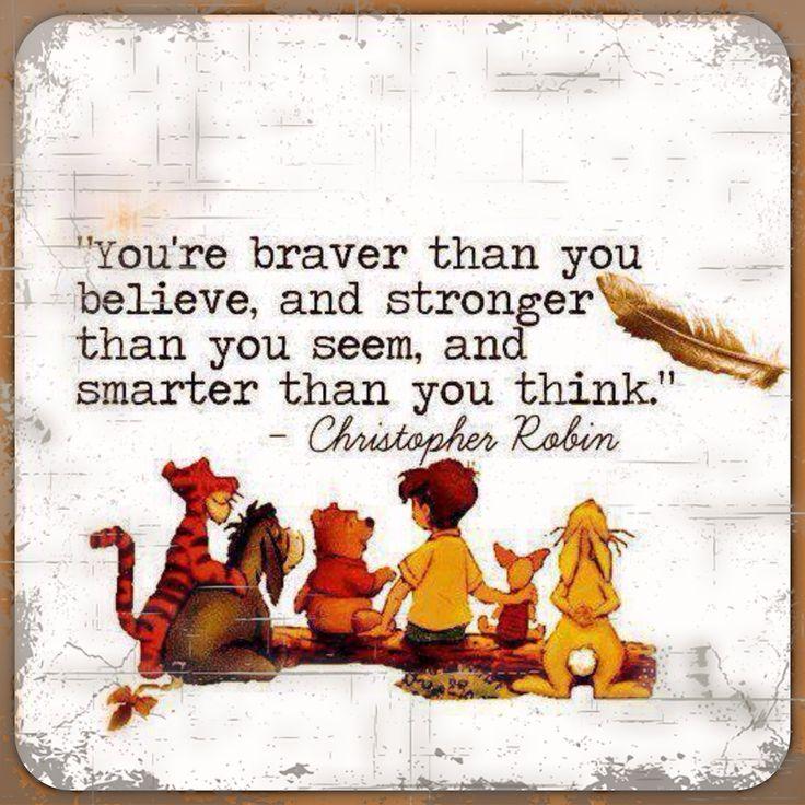 U're braver than u thunk.