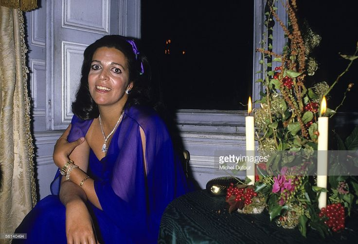 Christina Onassis, daughter of Greek shipping magnet Aristotle Onassis, is seen during a party at Vaux le Vicomte in Versailles, France.