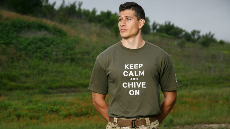 Service members of all stripes, we salute you.These, our first-ever Military KCCOs, can be worn underneath your ACUs, BDUs, and anywhere the day takes you. These military spec shirts are made of the softest and most durable 100% cotton fabric with the iconic 'Keep Calm and Chive On' credo printed in white on green, brown, sand, white or navy tees built to withstand the rigors of protecting the safety of the free world.Non-soldiers, pick up this exclusive tee and show your support for your…