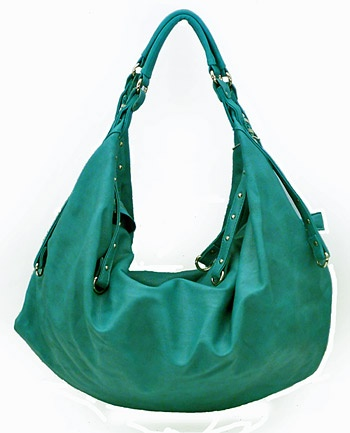 turquoise slouch bag