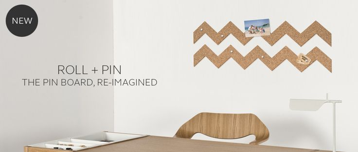 Cork memo board with self adhesive backing to create shapes and patterns on your wall