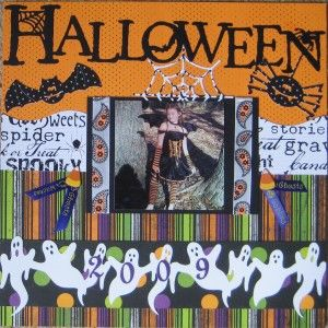 Scrapbooking Layout Halloween