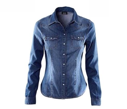 New Women Lady Cool Slim Denim Long Sleeve Shirt Top Blouse Brown/Blue   eBay £8.88Denim Long, Slim Denim, Clothing, Denim Shirts, Long Sleeve, Sleeve Shirts, Flap Pocket, Women Shirts, Wash Denim