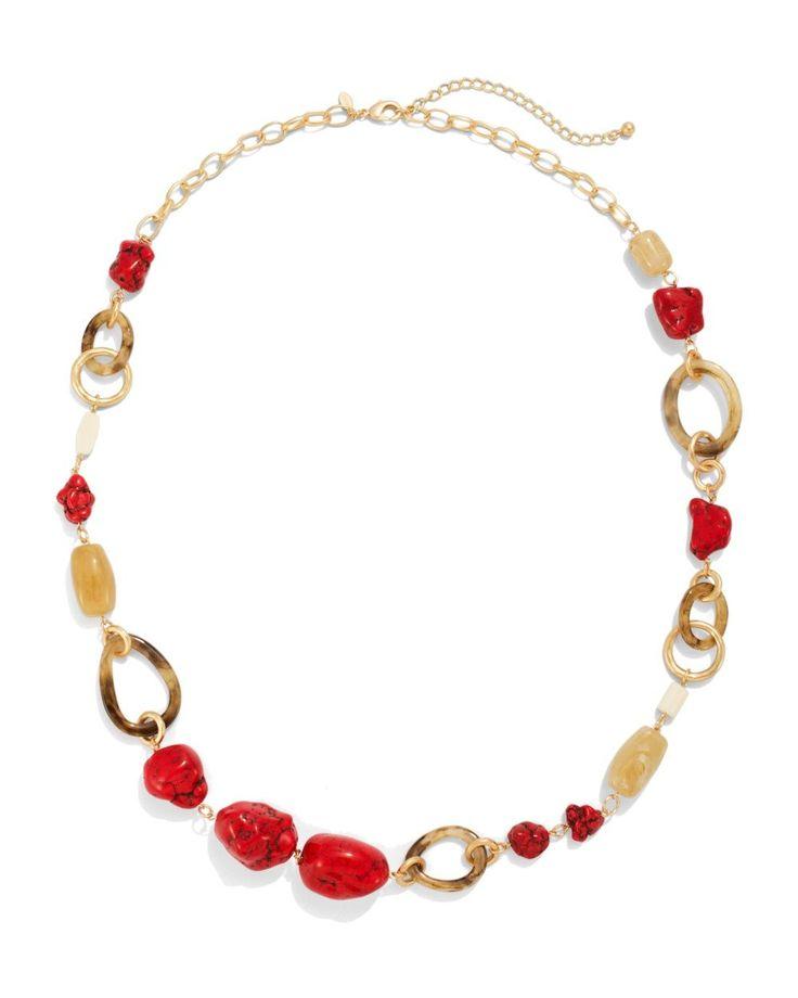 Chico's Women's Glenda Long Red Necklace