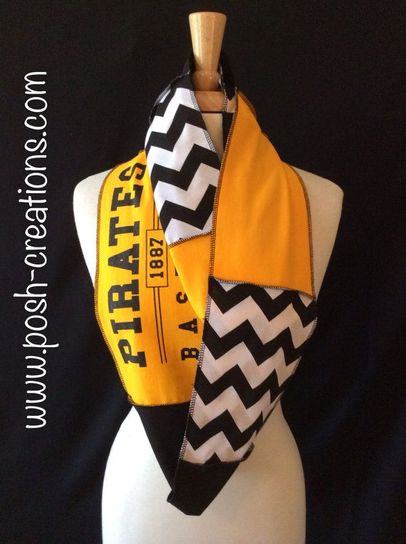 Pittsburgh Pirates Infinity Scarf on Etsy, $32.00