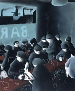 "Mackenzie Thorpe recreates the Industrial age with ""Lunch Time In The South Bank"". One of favourite pieces ;-)"