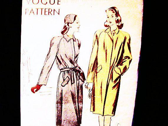 Vintage naaien patroon 1940s Womens jas door PatternsFromThePast
