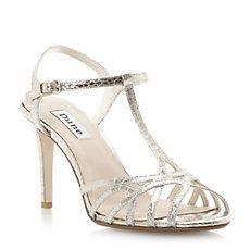 HOPEFUL - Metallic Strappy T-Bar Heeled Sandal