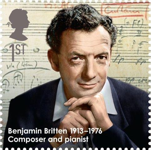 Reino Unido 2013 - Edward Benjamin Britten, Barón Britten, fue un compositor, director de orquesta y pianista británico. Fue el primer músico o compositor que recibió un título nobiliario.