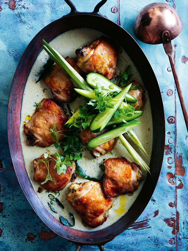 roasted green chicken curry   donna hay