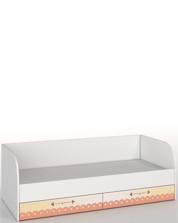 Roomakid с ящиками Осень  — 15000р. ---------------------------- Кровать с ящиками Roomakid Осень - односпальная модель со спинкой и 2 ящиками. Украшена рисунком. Размер спального места - 190х90 см. Материал - ЛДСП. Для детей от 3 лет.
