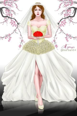 Wedding Bells.. My first wedding gown artwork