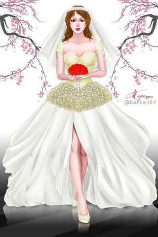Wedding Bells.. My first wedding gown artwork