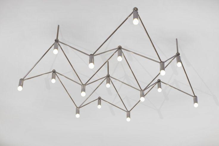 kinkeldey studio lighting structure 1970 chromed brass h x x inches 40 h x. Black Bedroom Furniture Sets. Home Design Ideas