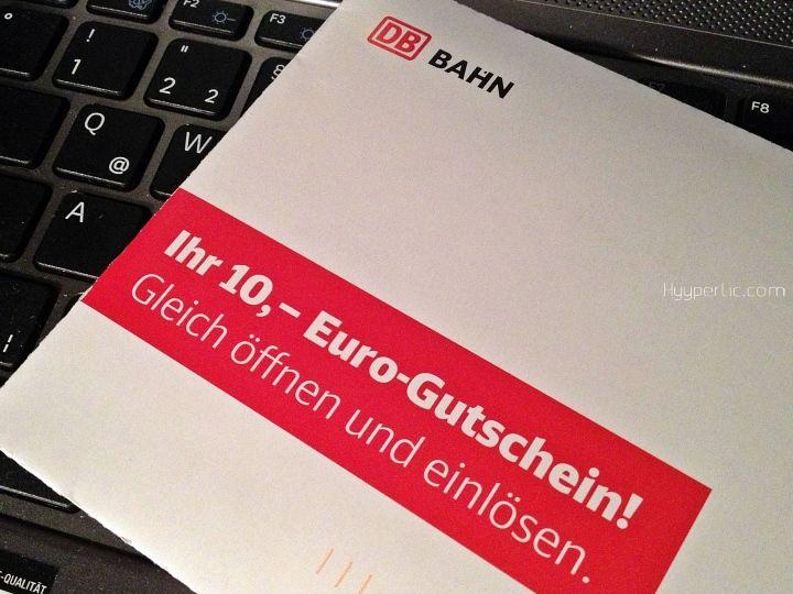 Bahn Card Inhaber der Deutschen Bahn können sich derzeit über einen kostenlosen 10 € Gutschein freien. Per Post werden momentan Gutscheine in Höhe von 10 Euro an Bahn Card Inhaber verschickt die bis Ende Oktober eingelöst werden können. Beim Gutschein ist zu beachten: er gilt nicht als Fahrkarte und muss vor Fahrtantritt in den DB Reisezentren oder in den DB Agenturen gegen eine Fahrkarte eingelöst werden der Gutschein ist auch online beim Kauf eines Online-Tickets zum Selbstausdrucken ...