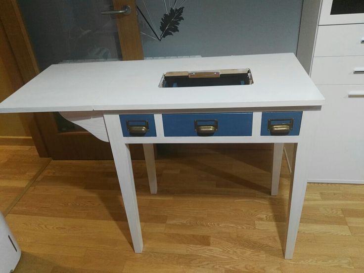 150 arousa mesa de madera para maquina de coser con for Wallapop mesas