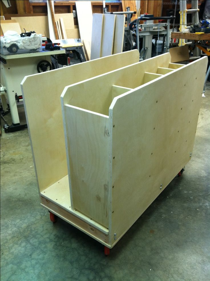107 best images about woodworking shop plans on pinterest for Sheet goods cart