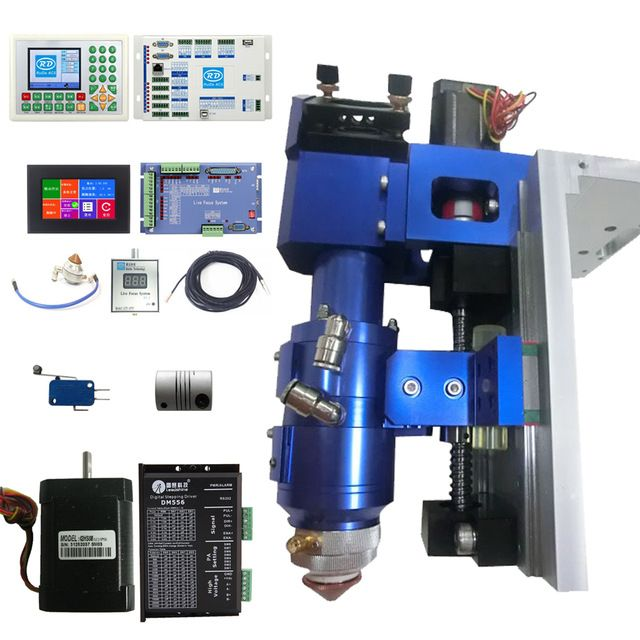 Automatic feeder Ruida CO2 laser metal and non metal mixed cutting system including  head, controller, sensor, motor and driver