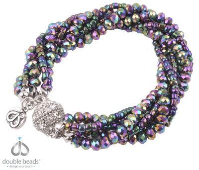 DoubleBeads Creation Mini Sieradenpakket armband, binnenmaat ± 20cm, met glas kristal kralen, glas rocailles en magnetische sluiting met strass (waarschuwing: niet voor mensen met een pacemaker) https://www.beadyourfashion.nl/go/si/si/38821