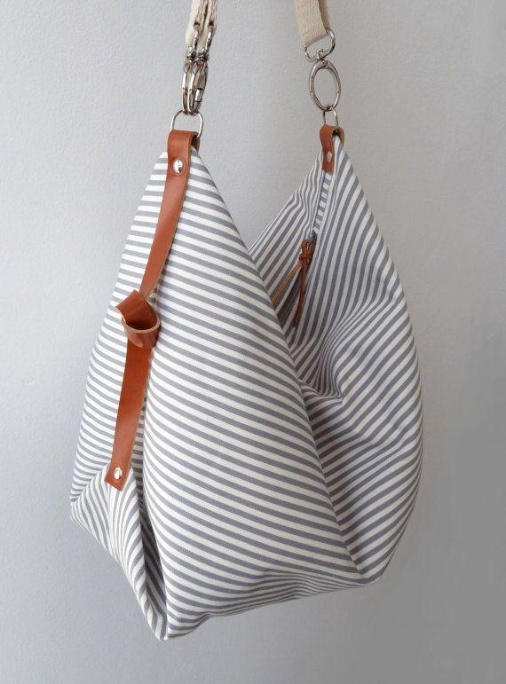 Maxi Bag messenger bag diaper bag Marina Grey by marabaradesign