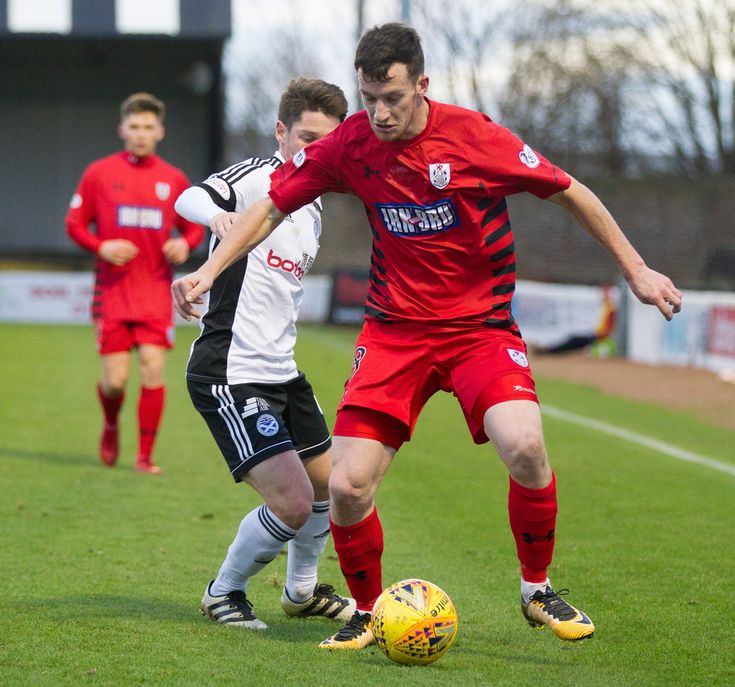 Queen's Park's David Galt in action during the SPFL League One game between Ayr United and Queen's Park