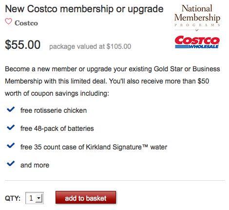 Costco Membership Deal!  Over $50 in FREE Groceries!!!