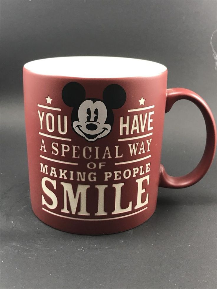 Mickey Mouse You have a Special Way of Making People Smile Cup Mug DISNEY Parks  | eBay