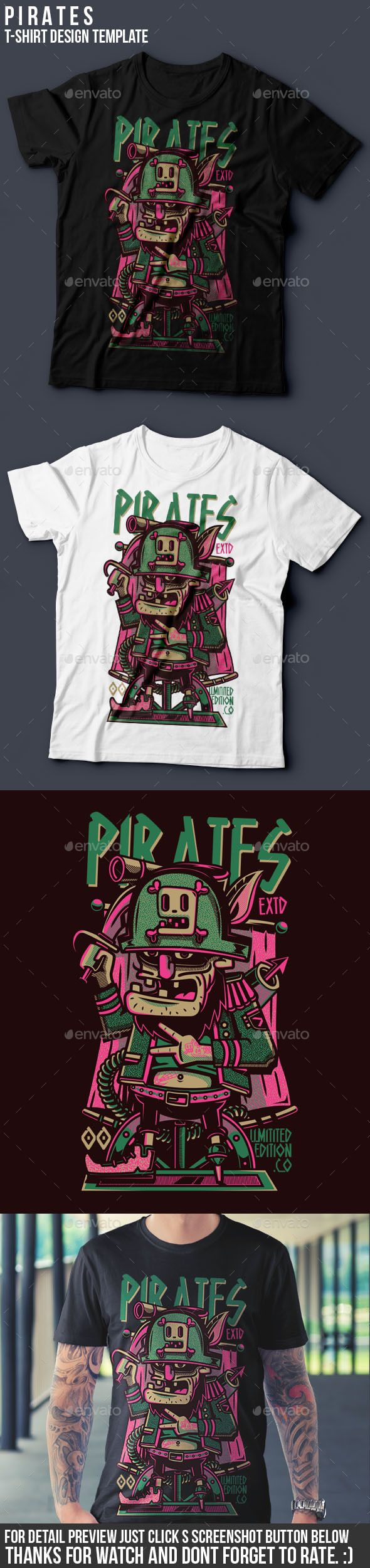 Pirates TShirt Design  #ai #illustrator #tees #pirates • Download ➝ https://graphicriver.net/item/pirates-tshirt-design/18789914?ref=pxcr