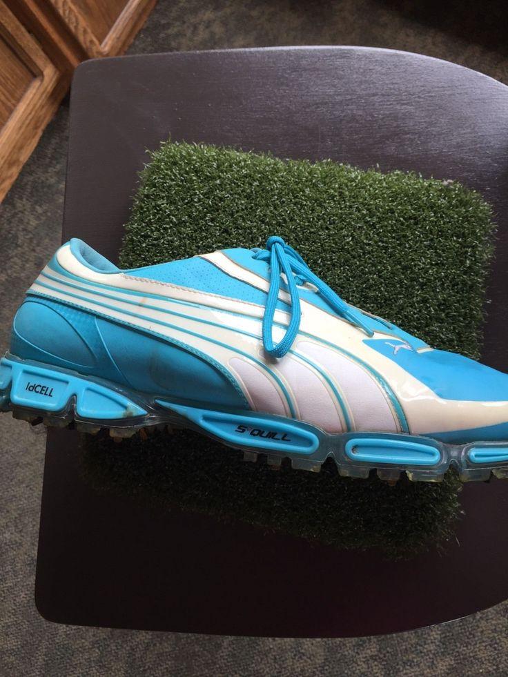 Puma S2 Quill Cell Fusion Golf Shoes 11.5 Aqua Blue Rickie Fowler