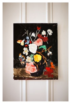 The first item to make it onto my xmas wish list. Still Life with Flowers & Moth by Bella Foster