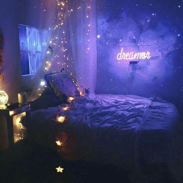 Galaxy Girls Bedroom Designs 10 Cozy And Dreamy Bedroom With Galaxy Themes Home Dream Rooms Galaxy Bedroom Aesthetic Rooms