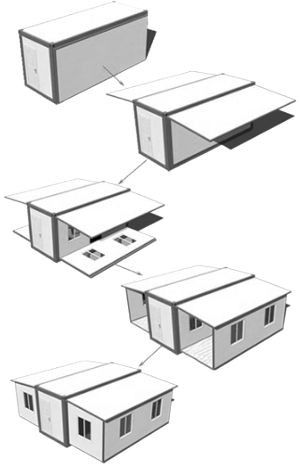 Cheap Shipping Container Home from China. Foldable for easier transport and bigger size. Only $10,000. So cheap.