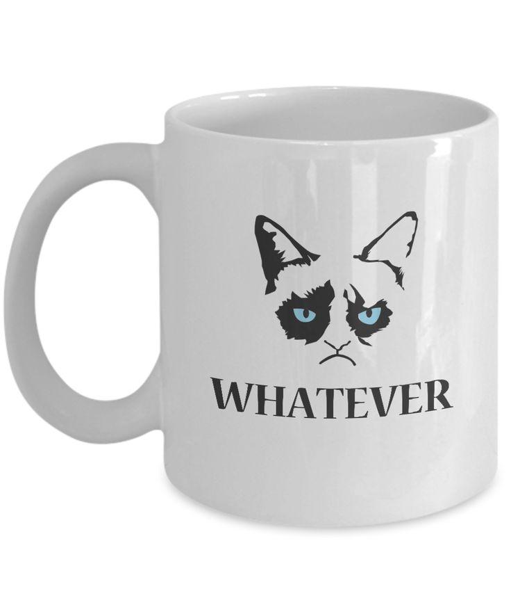 Grumpy Cat Mug - Grumpy Cat Gifts-Whatever  #coffeelover #yesecart #giftforher #christmasgift #giftforhim #customgift #coffeemug #gift