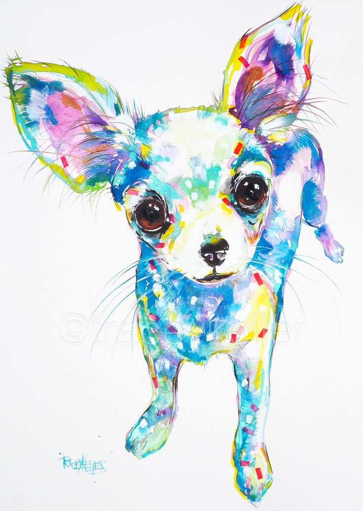 Chihuahua pet portrait painting