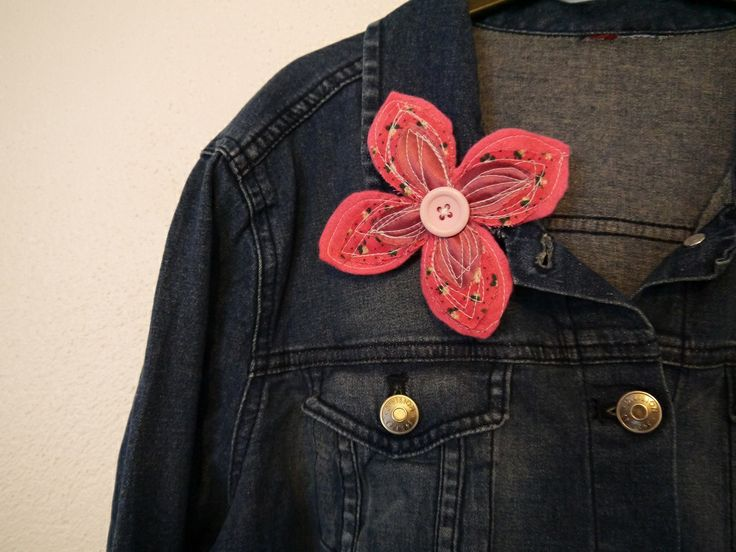freehand machine stitched beautiful brooches, £2.00 each from Annessa Crafts