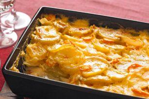 Cheesy Scalloped Potatoes & Carrots