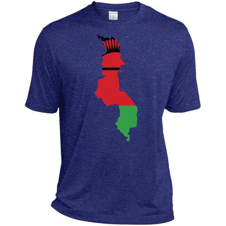 Malawi flag TST360 Sport-Tek Tall Heather Dri-Fit Moisture-Wicking T-Shirt