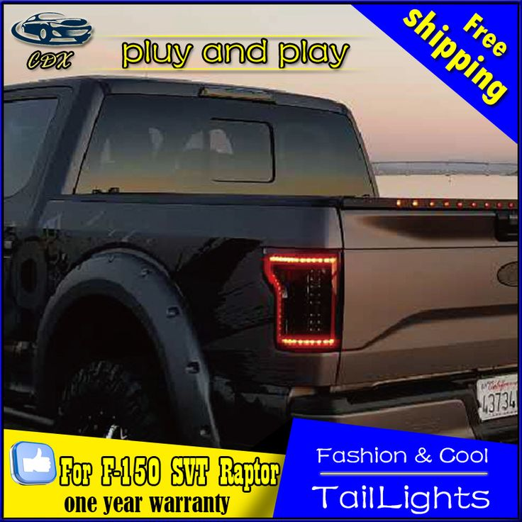 Car Styling Tail Lamp for Ford Raptor F150 2015-2016 Tail Lights LED Tail Light Rear Lamp LED DRL+Brake+Park+Signal Stop Lamp