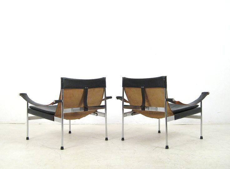 Arch. Hans Könecke, Paar Lounge Sessel Modell D 99 Für Tecta