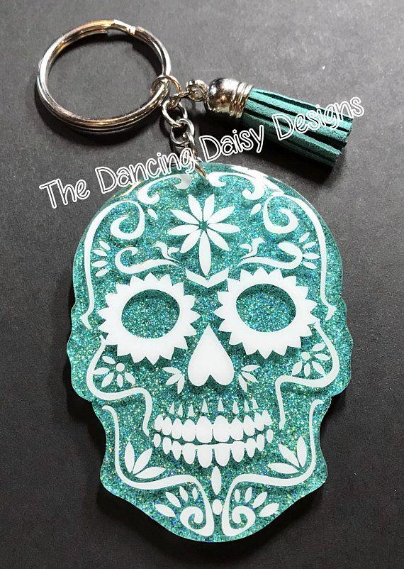 Sugar Skull Keychain Custom acrylic keychain graduation | ACRYLIC