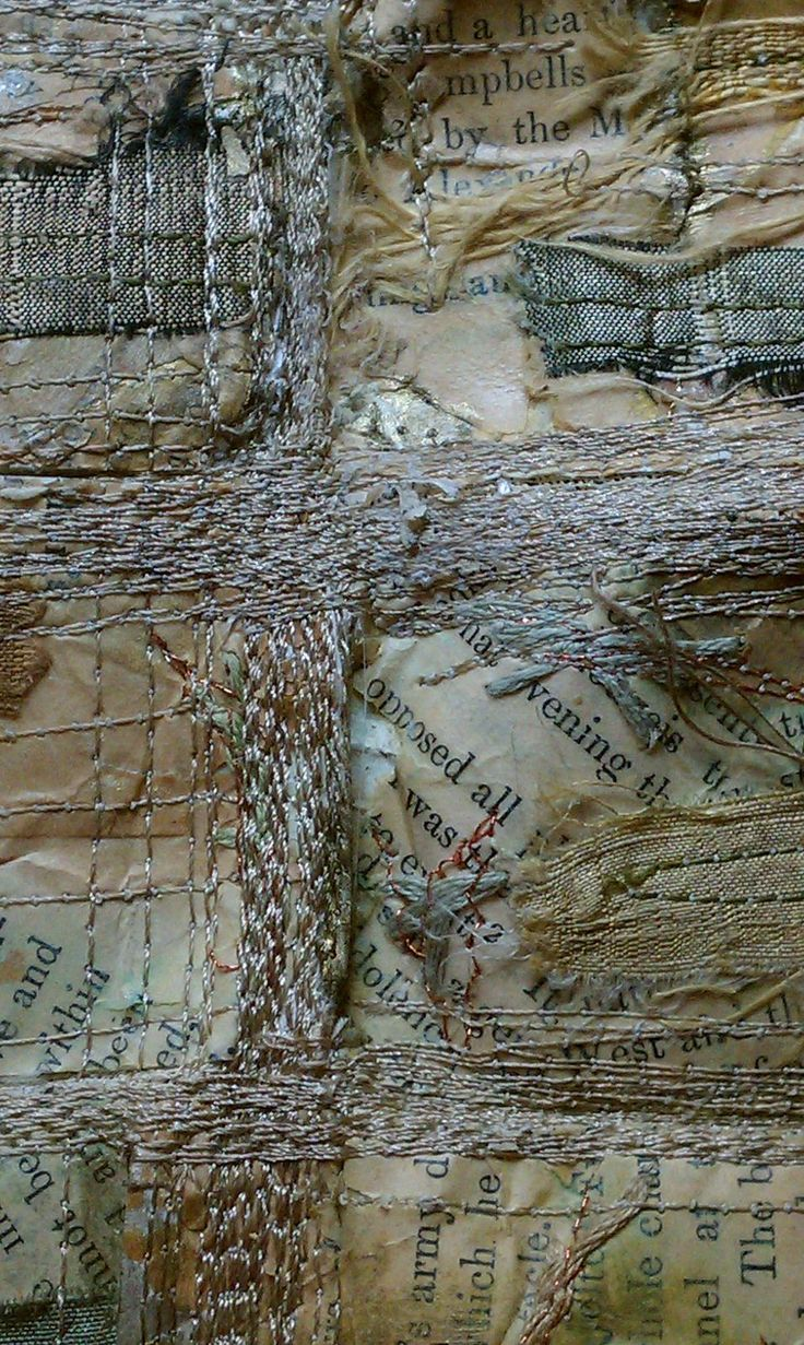 Mixed Media Fiber Art - Lisa M. Parrott (machine embroidery seems to have no feeling to me no matter how lovely...but this piece feels like hand embroidery, has feeling embedded. Why is that?? perhaps my esthetics have evolved?)