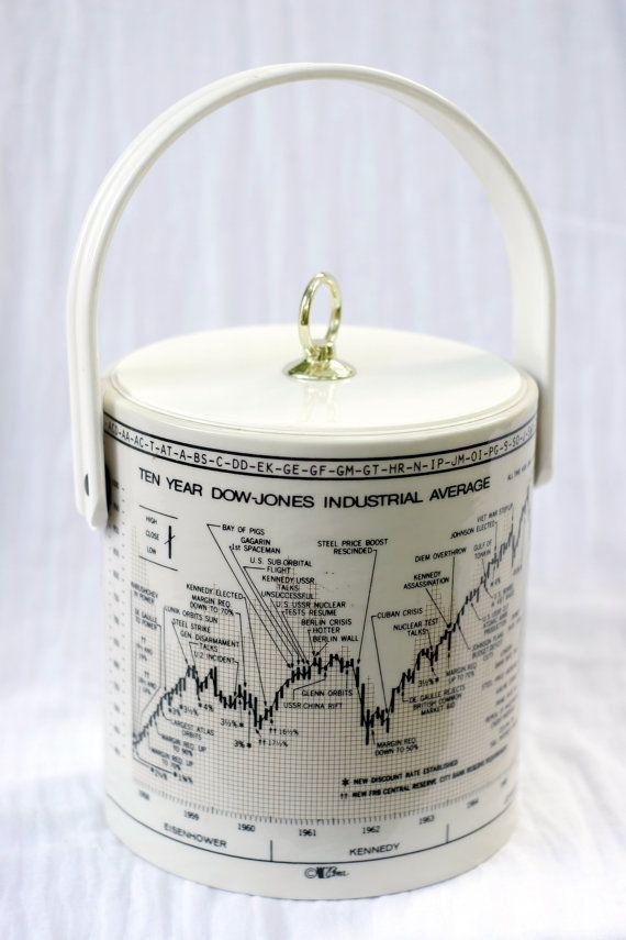 CERA Ice Bucket 1968 DOW JONES Stock Market Kennedy by Highway80, $29.00