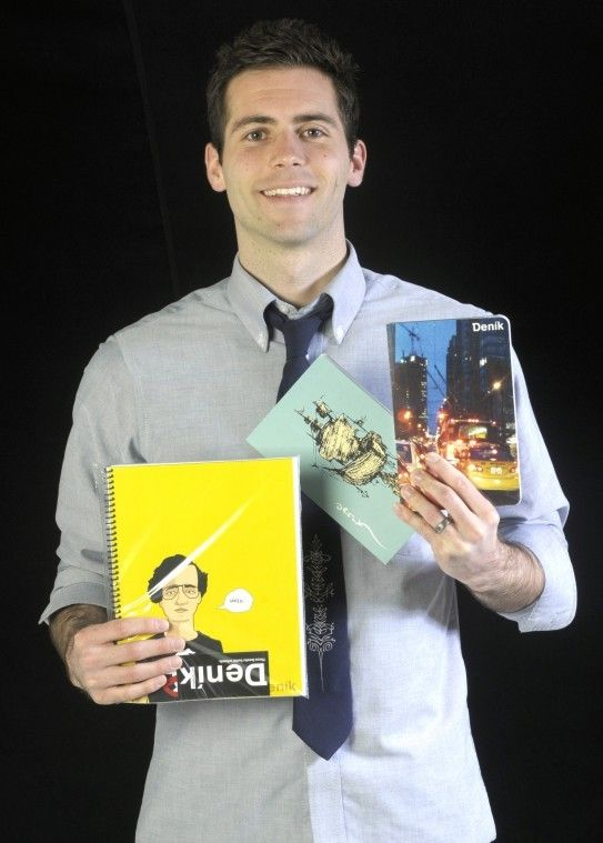 USU student Tyler Tolson, founder of Denik, a notebook and journal company in Utah. (Photo by Jennifer Meyers)
