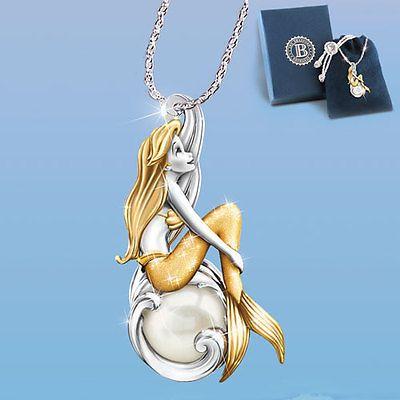 Waves Of Wonder Ariel Little Mermaid Pendant Necklace
