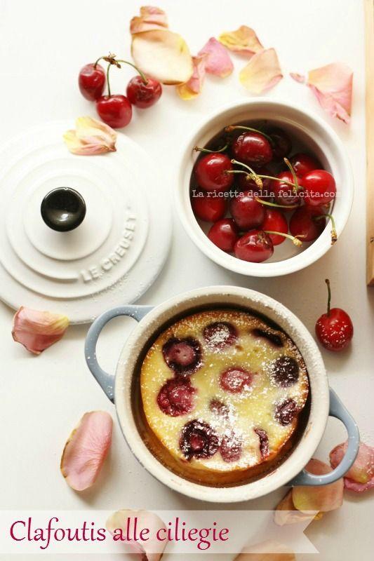 La ricetta della felicità: Clafoutis alle ciliegie con yogurt greco in cocotte